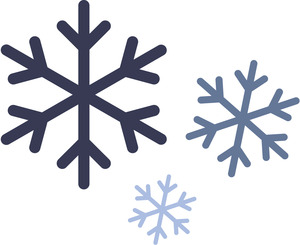 snowflakes_blue hues